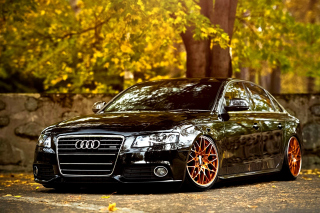 Audi A4 with New Rims Background for Android, iPhone and iPad
