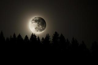 Full Moon Time Background for Android, iPhone and iPad