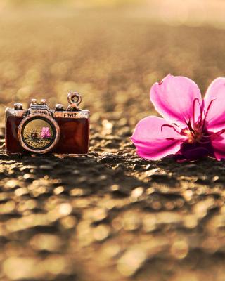 Macro Camera and Flower - Obrázkek zdarma pro Nokia Lumia 505