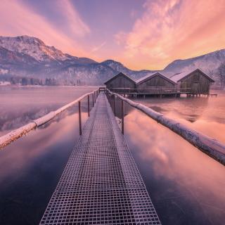 Frozen landscape - Obrázkek zdarma pro 1024x1024