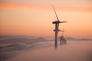 Dutch Wind power Mills for electricity Picture for Android, iPhone and iPad