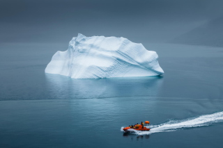 Greenland Iceberg Lifeboat Wallpaper for Android, iPhone and iPad