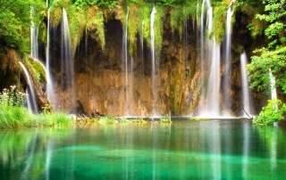 Jungle Waterfall Wallpaper for Android, iPhone and iPad
