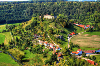 Village in Denmark Background for Android, iPhone and iPad