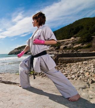 Karate By Sea - Obrázkek zdarma pro Nokia 300 Asha