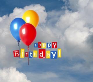 Happy Birthday Balloons - Obrázkek zdarma pro iPad mini