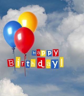 Happy Birthday Balloons - Obrázkek zdarma pro 480x854