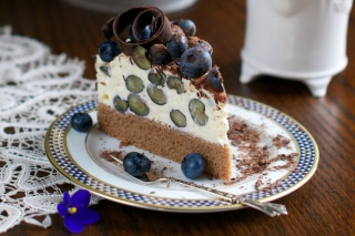 Free Blueberry Cake Picture for Android, iPhone and iPad