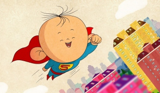 Superkid Superman Background for Android, iPhone and iPad