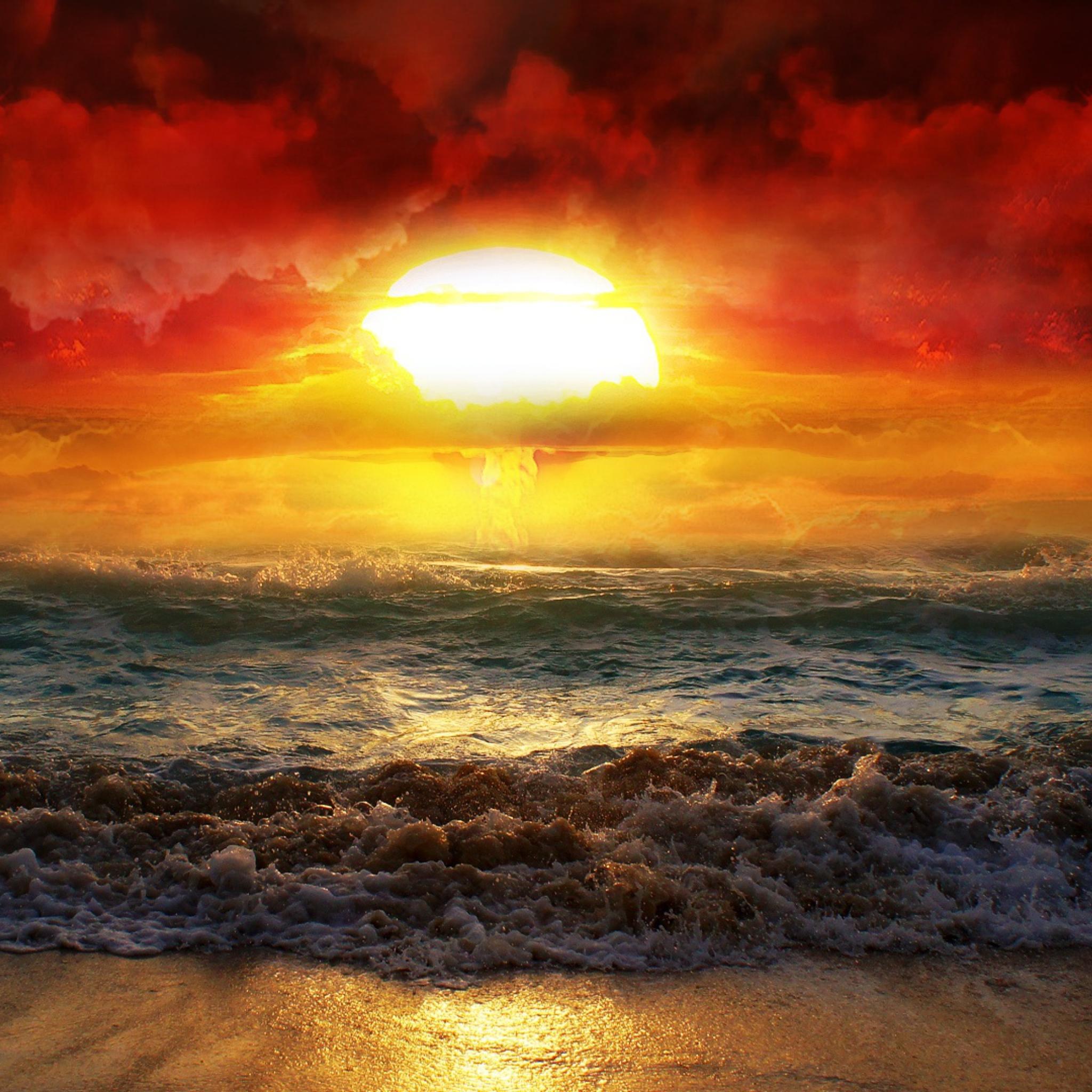закат над бушующим морем  № 602746 бесплатно