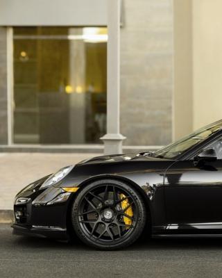 Porsche 911 Turbo Black - Obrázkek zdarma pro iPhone 6 Plus