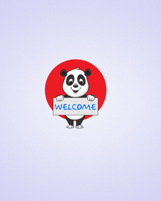 Welcome Panda - Obrázkek zdarma pro Nokia Lumia 810