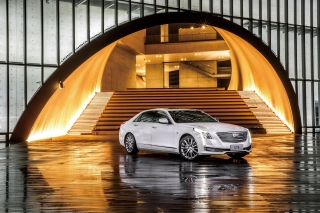 Cadillac CT6 on Auto Show Background for Android, iPhone and iPad