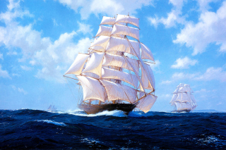 Ships Artwork Steven Dews Picture for Android, iPhone and iPad