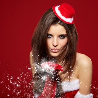 Snow Maiden Christmas Girl - Obrázkek zdarma pro iPad Air