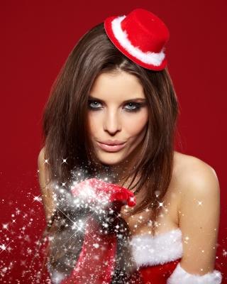 Snow Maiden Christmas Girl - Obrázkek zdarma pro Nokia Lumia 810