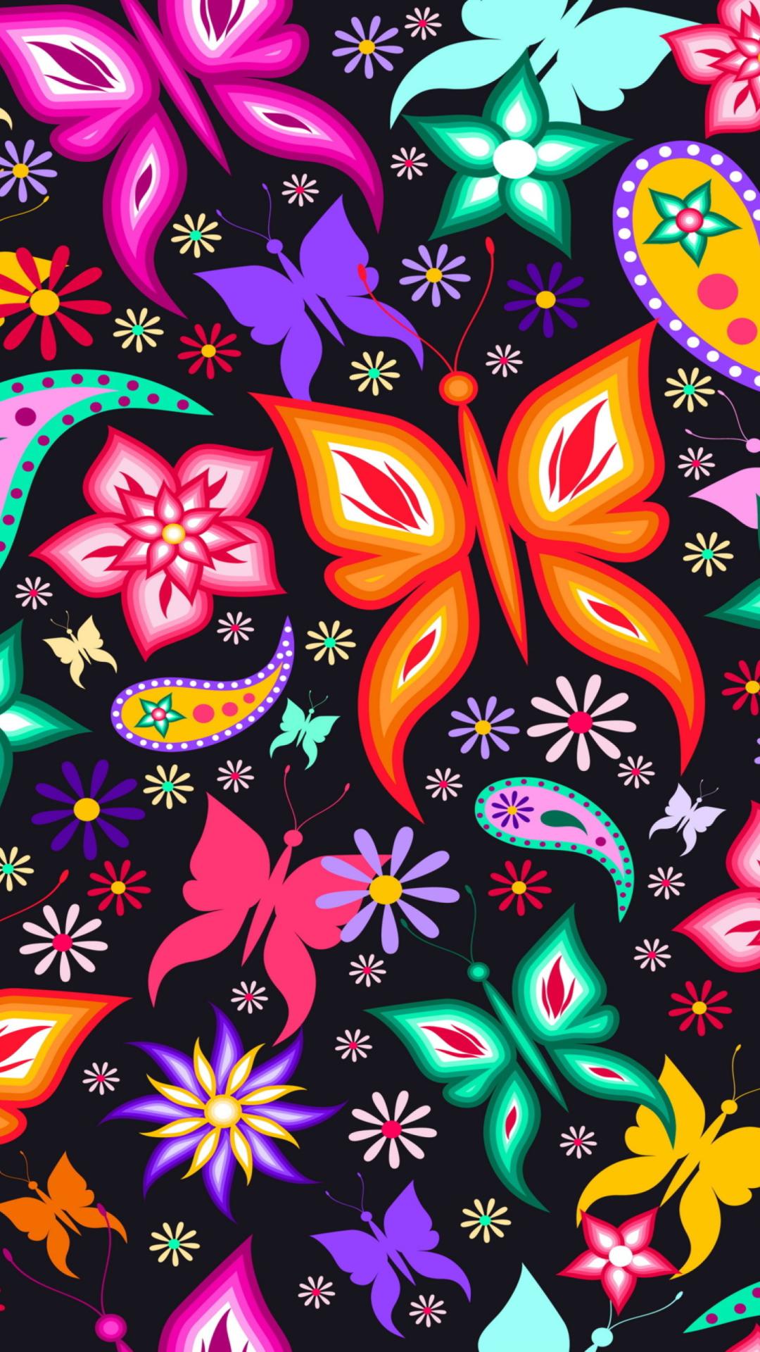 Floral Butterflies Wallpaper For Iphone 6 Plus