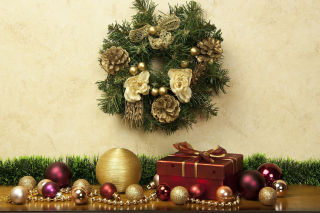 Christmas Decorations Collection Background for Android, iPhone and iPad