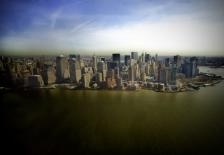 Free New York Aerial View Picture for Android, iPhone and iPad