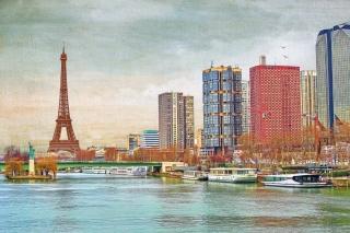 Обои Eiffel Tower and Paris 06th District для того 0280x720
