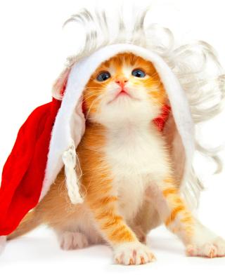 Cat Wanna Be Santa - Obrázkek zdarma pro Nokia X1-00
