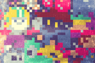 Colorful Mosaic Abstraction Wallpaper for Android, iPhone and iPad