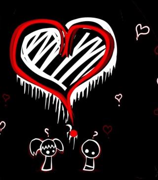 Emo Hearts - Obrázkek zdarma pro 240x320