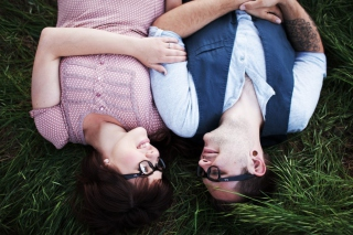 Nice Couple In Glasses Picture for Android, iPhone and iPad