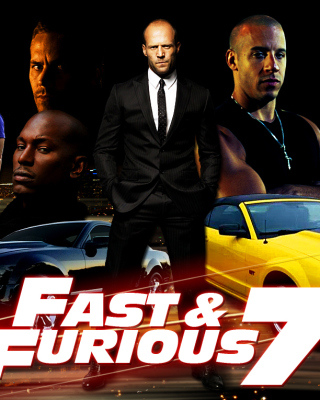 Fast and Furious 7 Movie - Obrázkek zdarma pro iPhone 4
