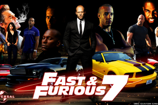 Fast and Furious 7 Movie - Obrázkek zdarma pro Samsung Galaxy Grand 2