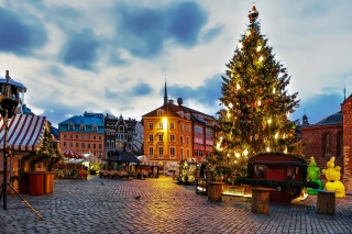 Riga Christmas Market Wallpaper for Samsung Galaxy Ace 3