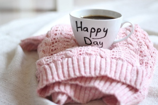 Happy Day Coffee Wallpaper for Android, iPhone and iPad