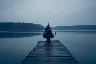 Blue Christmas Wallpaper for Android, iPhone and iPad