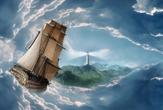 Free Big Ship In Storm Picture for LG Optimus U