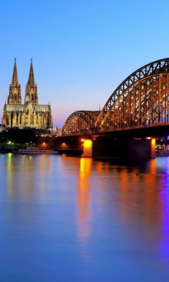 Cologne Cathedral HDR wallpaper 240x400