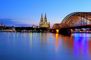 Cologne Cathedral HDR Background for Widescreen Desktop PC 1920x1080 Full HD