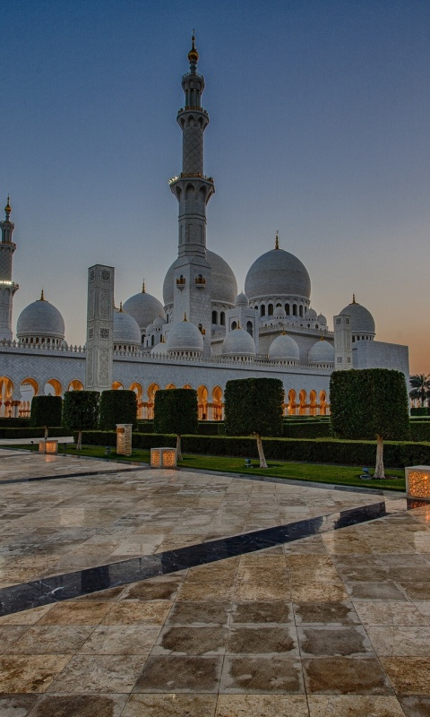 Screenshot №1 pro téma Sheikh Zayed Grand Mosque in Abu Dhabi 480x800