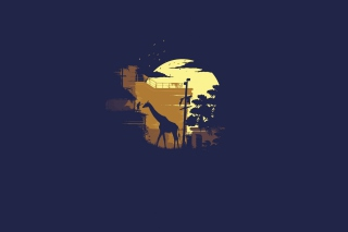 Giraffe Illustration Background for Android, iPhone and iPad