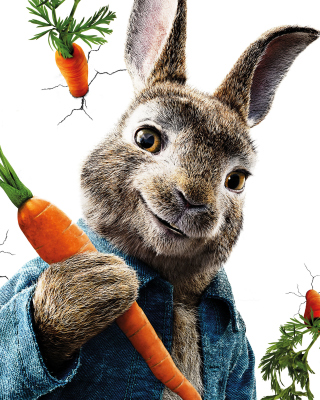 Peter Rabbit 2018 papel de parede para celular para iPhone 4S