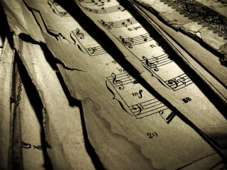 Old Music Sheets Background for Android, iPhone and iPad