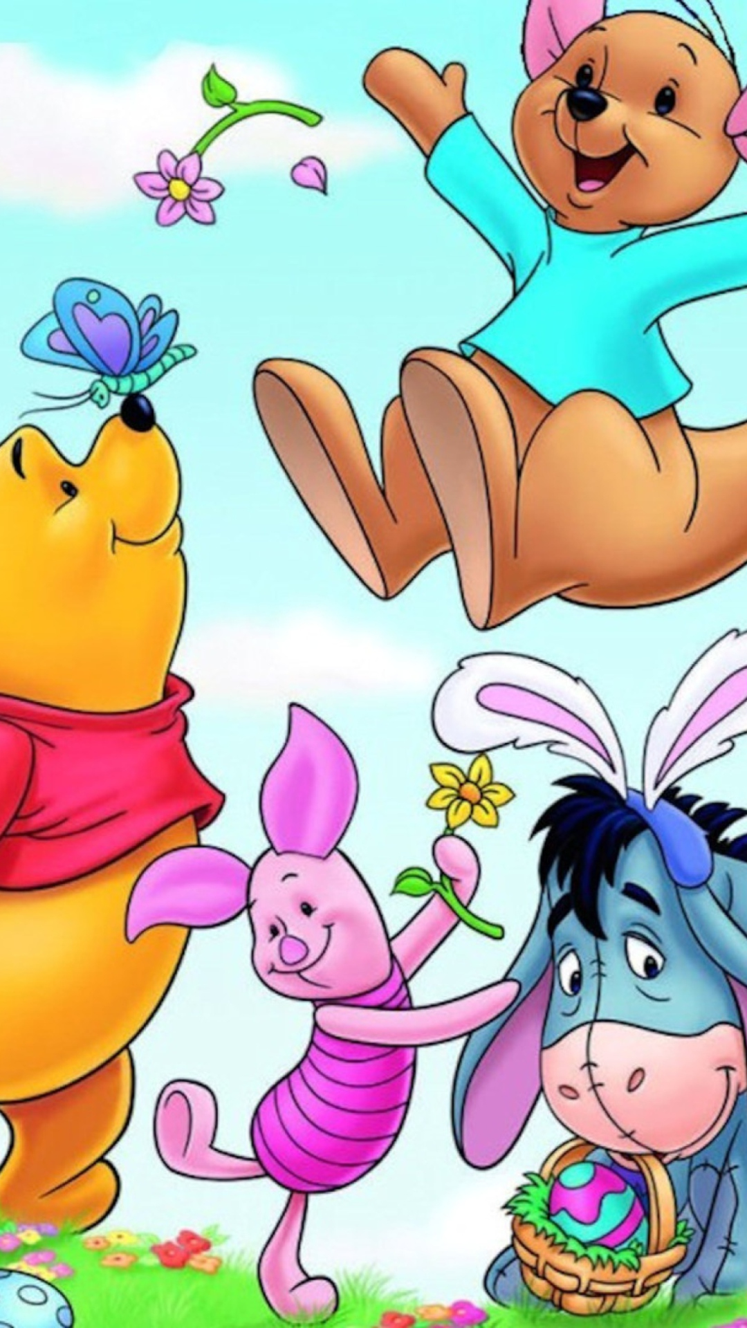 Winnie The Pooh Easter wallpaper 1080x1920