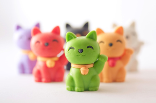 Kostenloses Maneki Neko Japanese Lucky Cat Wallpaper für HTC Wildfire