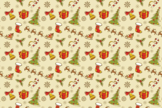 Christmas Gift Boxes Decorations Background for Android, iPhone and iPad