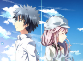 Kamijou Touma and Arisa Background for Android, iPhone and iPad