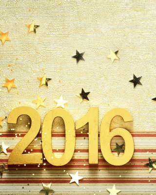 2016 New year Congratulations Wallpaper for Nokia Asha 306