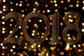 Kostenloses 2018 New Year Texture Wallpaper für Desktop Netbook 1024x600