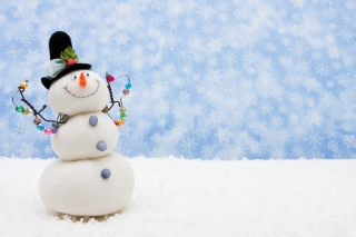 Funny Snowman Picture for Android, iPhone and iPad