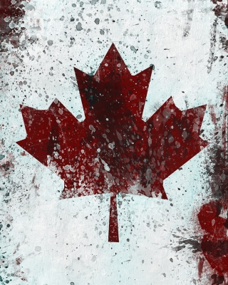 Canada Flag Background for Nokia 5233