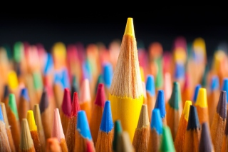 Colorful Pencils Background for Desktop 1280x720 HDTV
