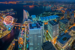Yokohama City in Tokyo Background for Android, iPhone and iPad